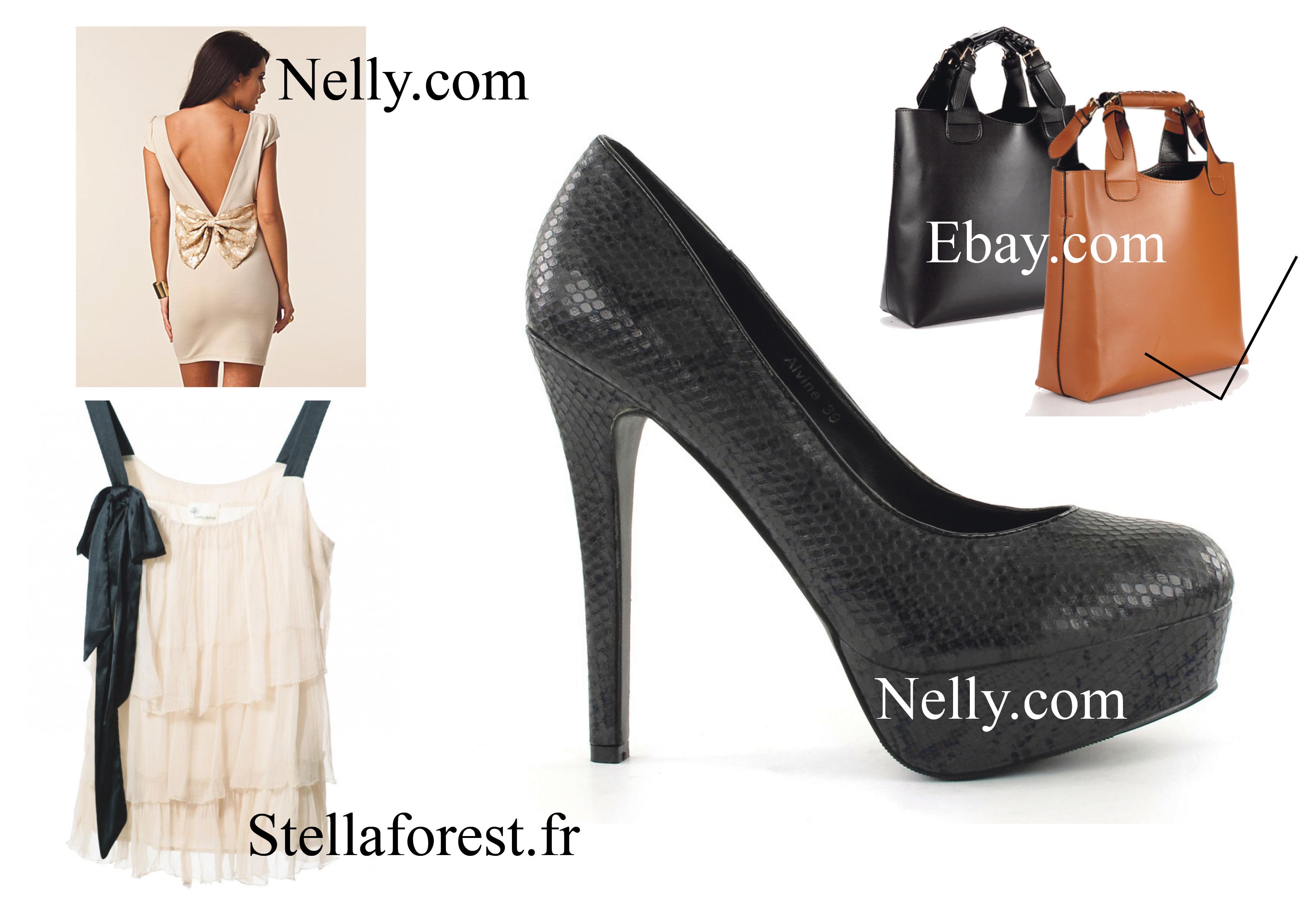 61fe668e3e53 ... super skønne top fra Stellaforest som jeg rigtig godt kunne tænke mig  at eje. Endvidere har jeg fundet på Nelly denne kjole og de her sorte  stiletter ...